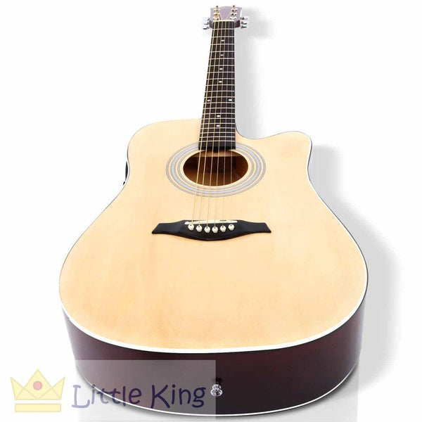 "41"" 5- Band EQ Electric Acoustic Guitar - Natural"