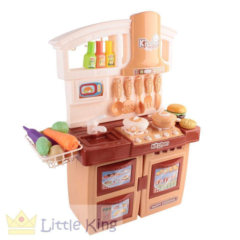 Kitchen Pretend Play Set - Brown
