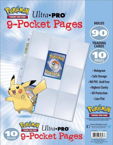 Pokemon - 9-Pocket Trading Card Page Pack (10 PK)
