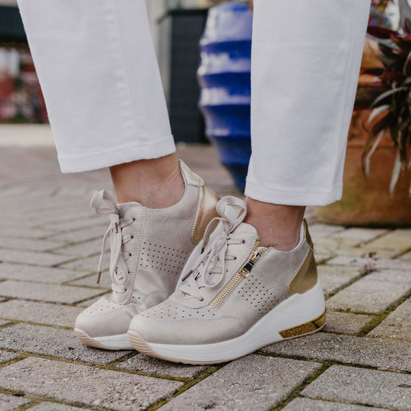 Renato Garini by Exe Goldie Wedge Sneaker