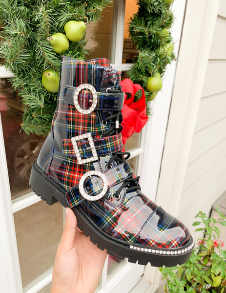 Jessica Simpson Kirlah Plaid Boot