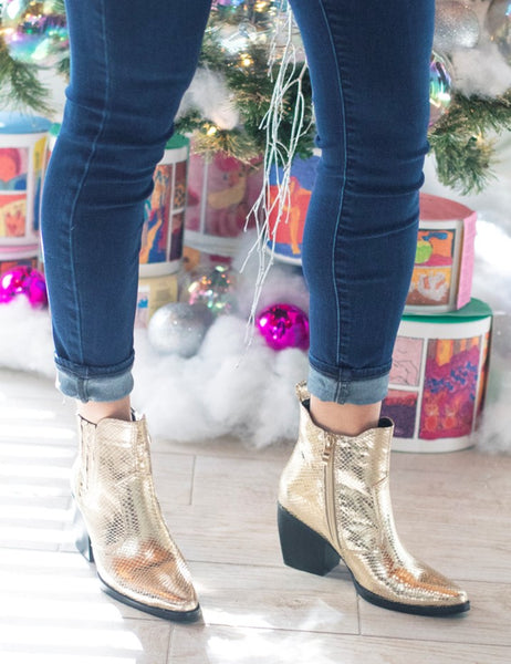 Shu Shop Yvanna Gold Bootie