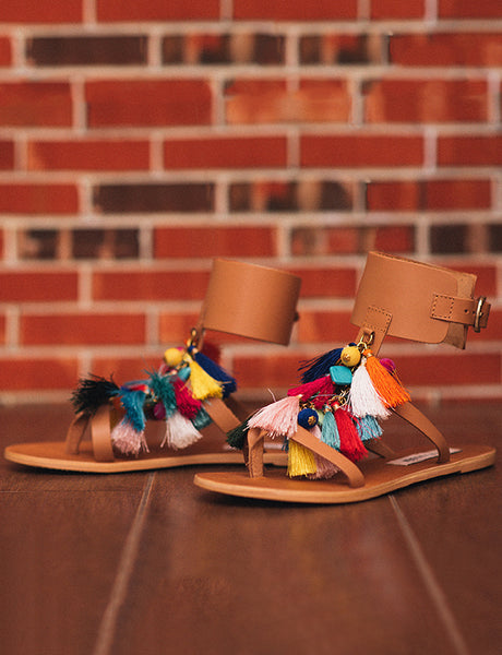 Colorful Cognac Sandal