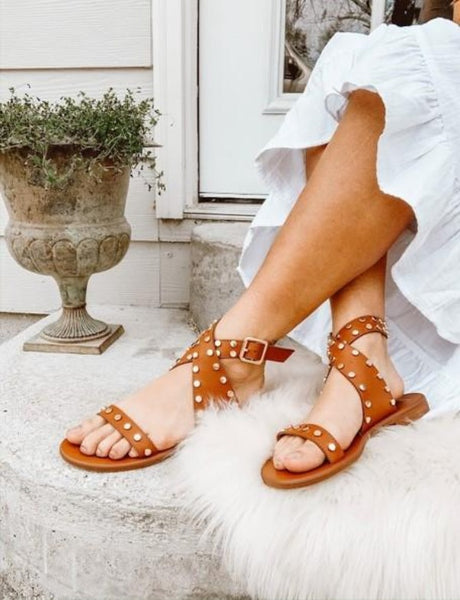 Minchi Stud Sandals