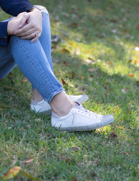 Shu Shop Mia White Star Sneaker
