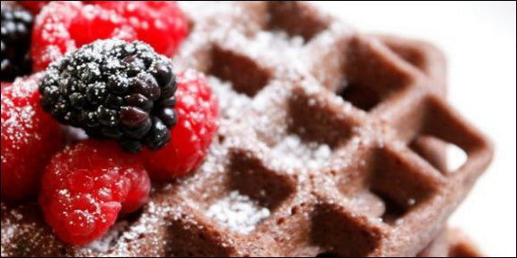 Gluten-Free Chocolate Protein Waffles For The Win!