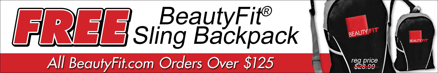 Free Sling Backpack With Orders Over $125