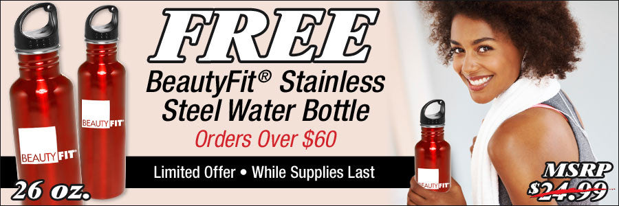 Free Stainless Steel Water Bottle with Orders Over $60
