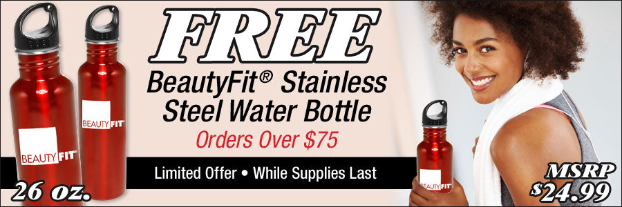 Free BeautyFit® Water Bottle With Orders Over $75