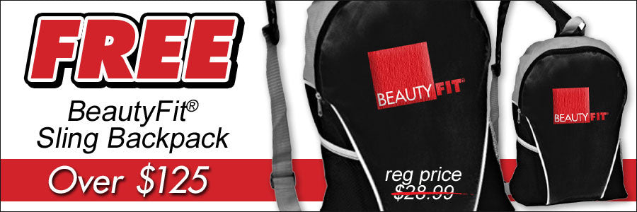 Free BeautyFit® Sling Backpack With Orders Over $125