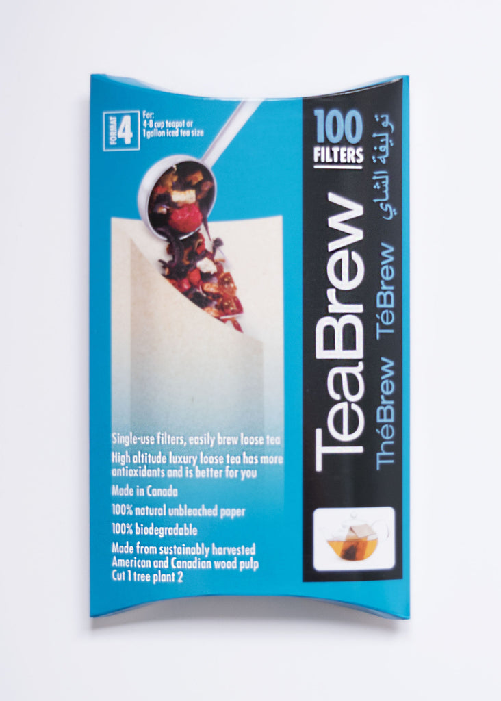 Tea Brew #4 100 pcs 4-8 Cup Tpot Size - Black Iron Tea Traders