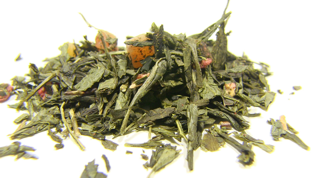 Green Tea - Long Island Strawberry - Black Iron Tea Traders