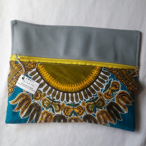 The Awali - Dashiki African Print Clutch