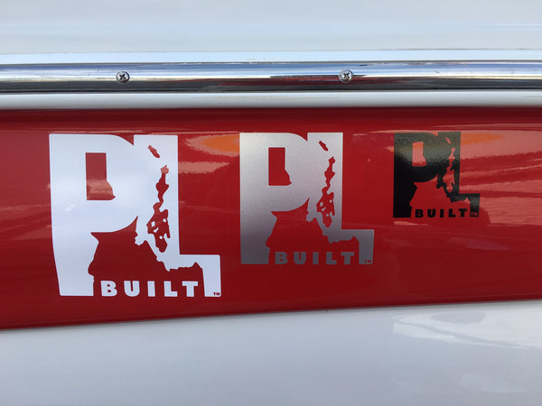 4 inch PL Built Sticker