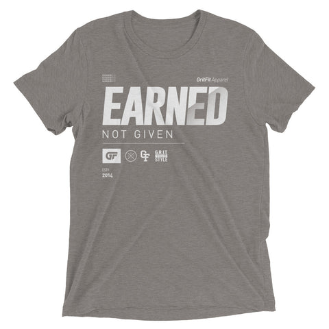 Earned. (Grey)
