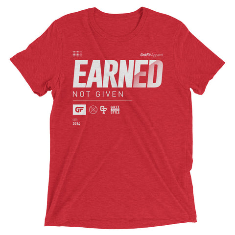 Earned. (Red)