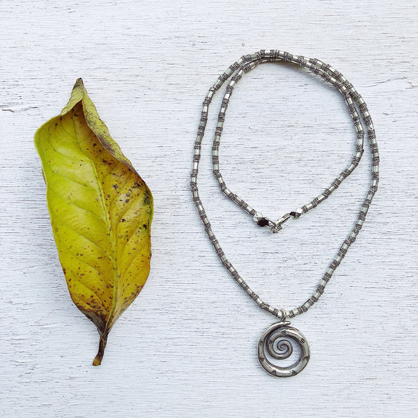 MENS SILVER AMULET NECKLACE