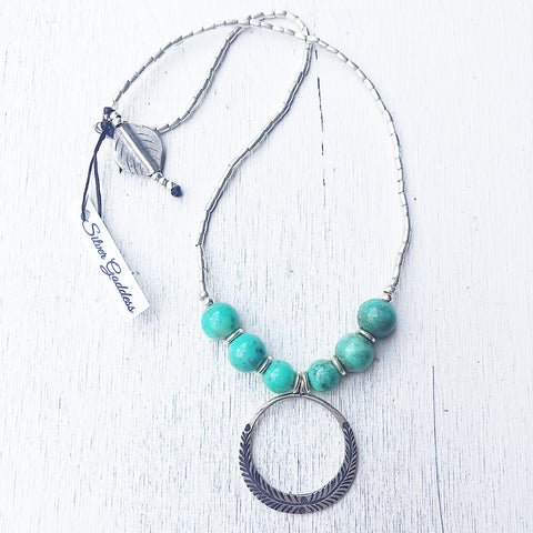 CIRCLE OF HOPE CHRYSPRASE NECKLACE