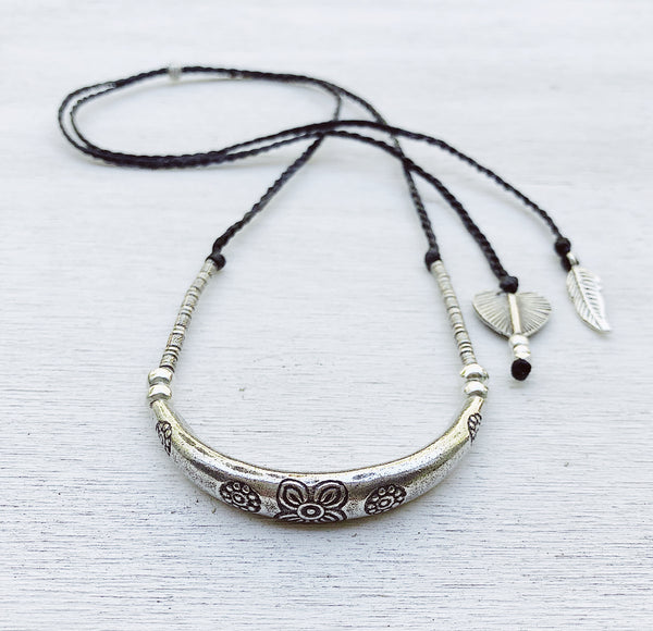 TRIBAL MOON ADJUSTABLE NECKLACE
