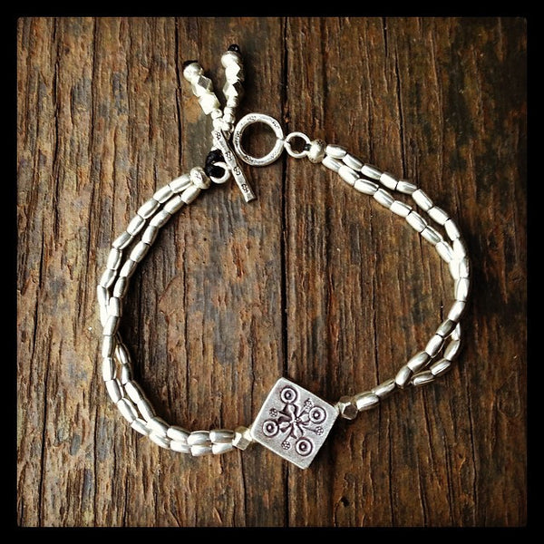 SILVER GODDESS FRIENDSHIP BRACELET
