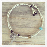 LOVE & PEACE ANKLET