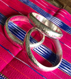 WIDE HAMMERED BANGLE 65mm