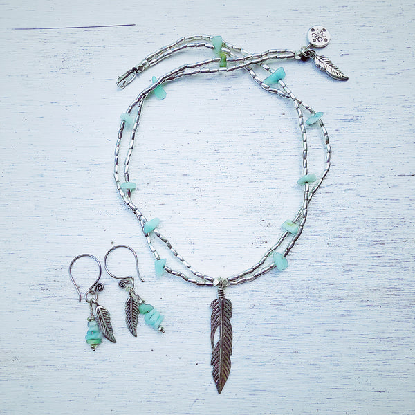 OCEAN DREAMER NECKLACE & EARRINGS SET