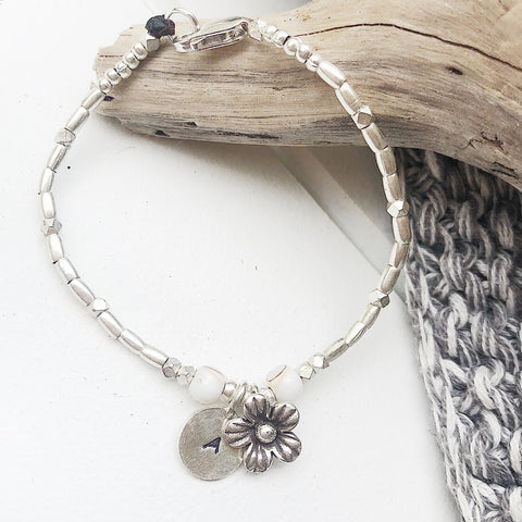 FLOWER & SHELL PERSONALIZED BRACELET