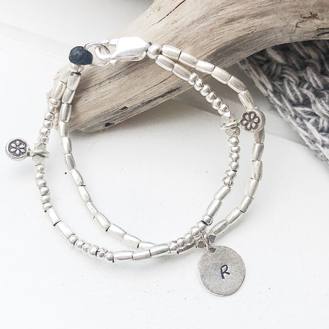 DOUBLE STRAND PERSONALIZED BRACELET