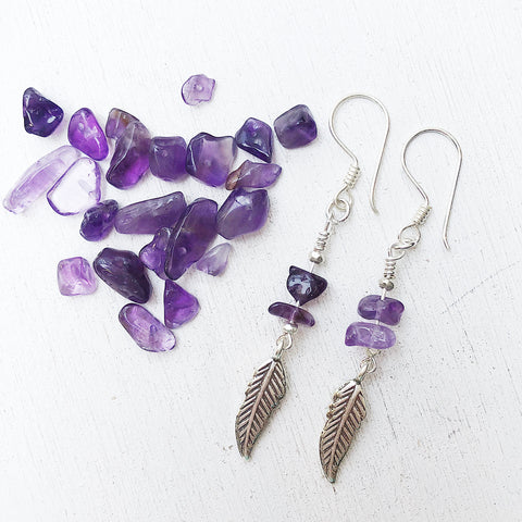 AMETHYST LOVE EARRINGS