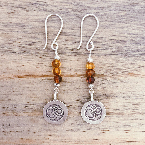 OM & AMBER EARRINGS