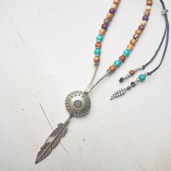 TURQUOISE EARTH GODDESS NECKLACE