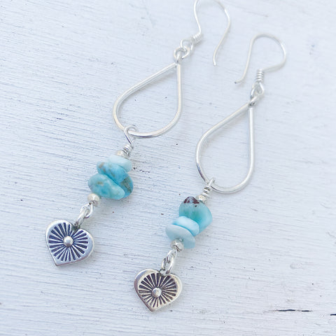 LARIMAR LOVE HEARTS