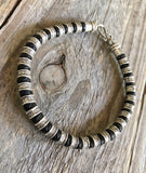 MENS HILL TRIBE SILVER FISH BRACELET