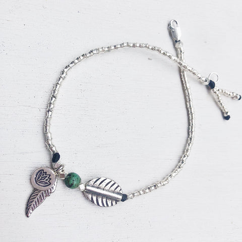 LOTUS SPIRIT FEATHER ANKLET