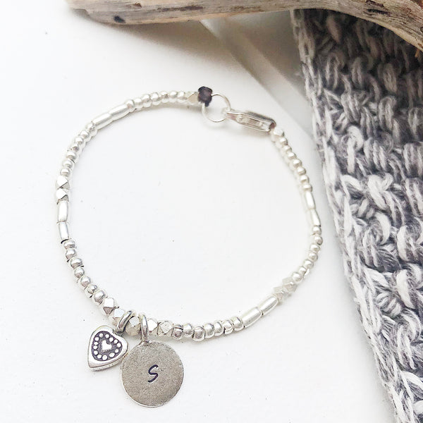 LITTLE LOVE-HEART PERSONALIZED BRACELET
