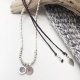 ADJUSTABLE HAND STAMPED NECKLACE