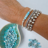 LARIMAR LOVE AND PROTECTION BRACELET