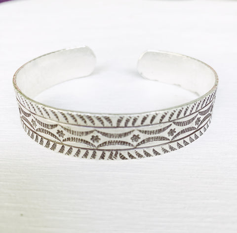 MENS HILL TRIBE SILVER CUFF