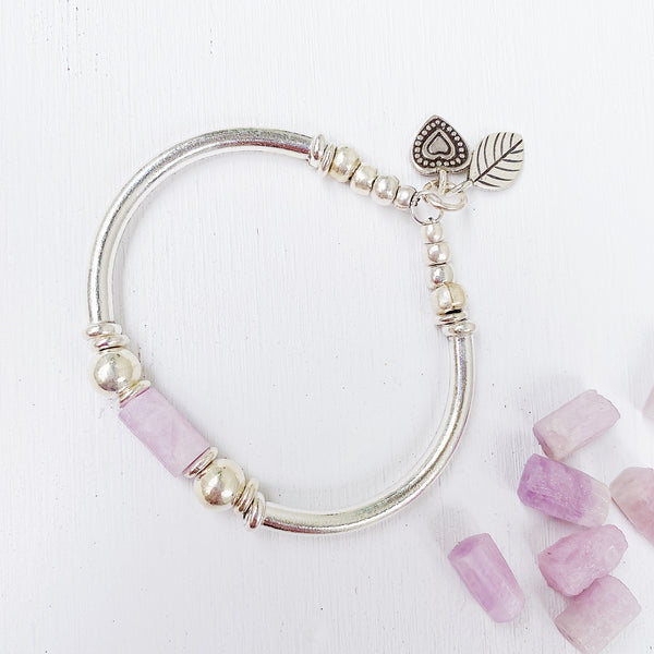 KUNZITE PEACE AND CLARITY BRACELET