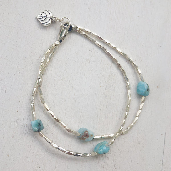 FLOATING LARIMAR BRACELET