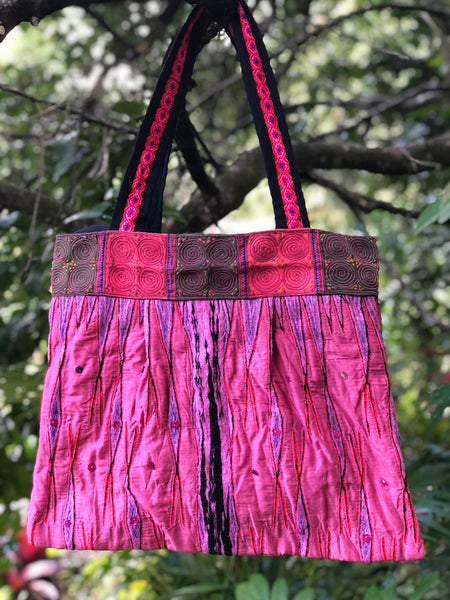 PINK TRIBAL HANDBAG