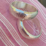 WIDE HAMMERED BANGLE 60mm