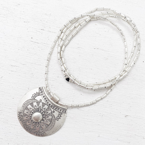 SILVER REFLECTIONS NECKLACE