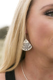 TRIBAL FAN SHAPE EARRINGS