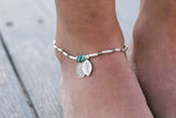 """THREE LITTLE LEAVES"" ANKLET"