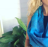 "100% COTTON TRADITIONAL ""KAREN HILL TRIBE"" SCARF - BLUE"