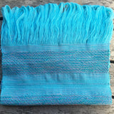 100% COTTON TRADITIONAL KAREN SCARF - LIGHT BLUE