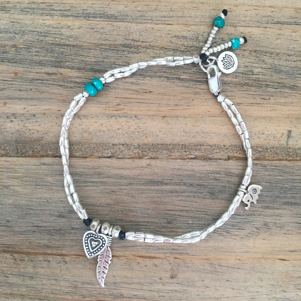 LOVE-PEACE-NATURE ANKLET