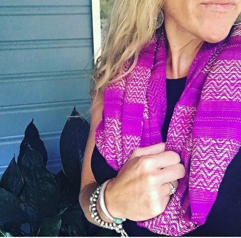 "100% COTTON TRADITIONAL ""KAREN HILL TRIBE"" SCARF - PURPLE"